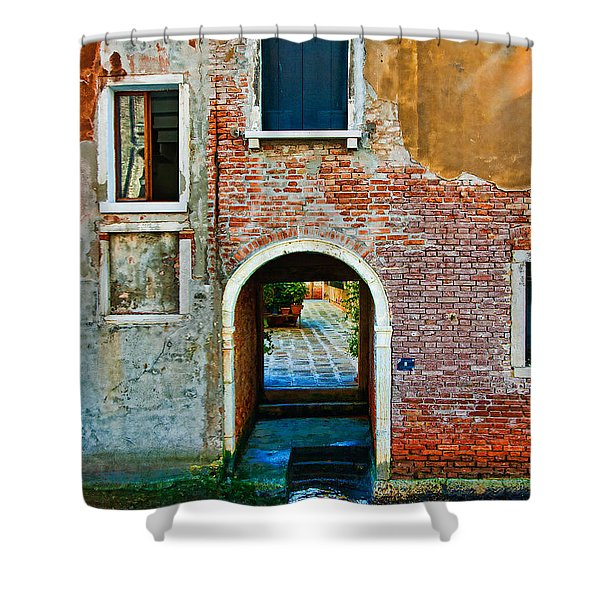 Dock And Windows Shower Curtain