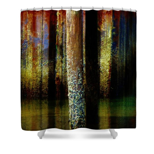 Dock At Low Tide Shower Curtain