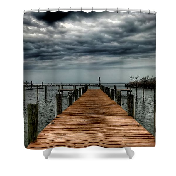 Dock Of The Bay Shower Curtain