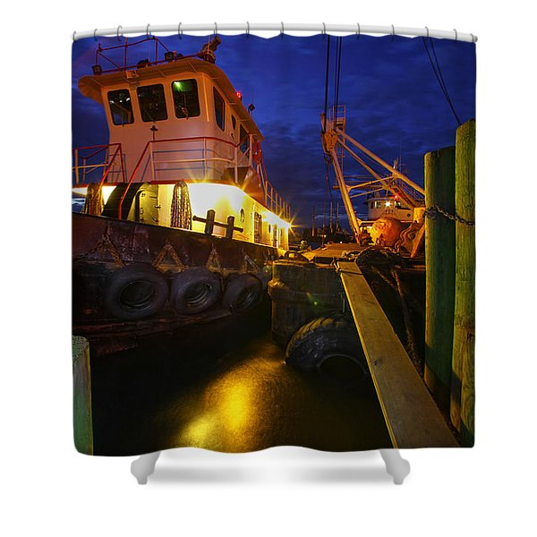 Dock Side Shower Curtain