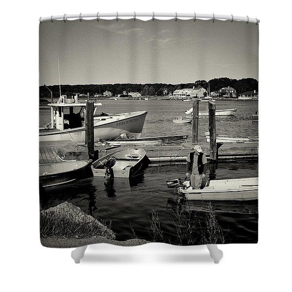 Dock Work Shower Curtain