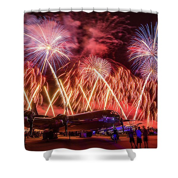 Doc's Fireworks Shower Curtain