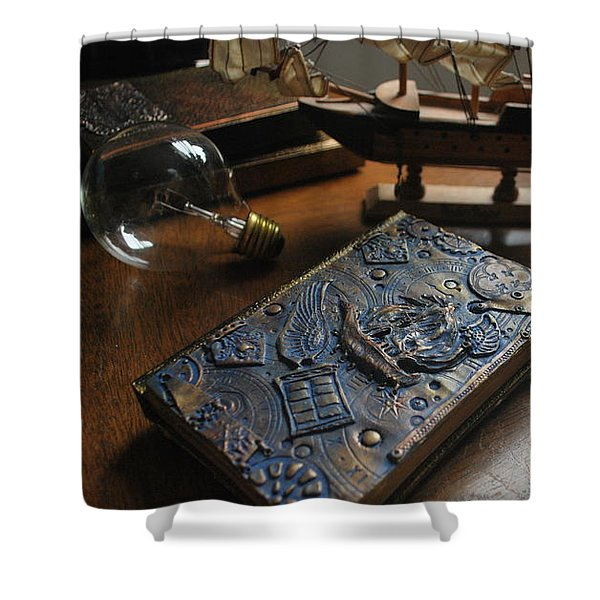 Doctor Who Steampunk Journal  Shower Curtain