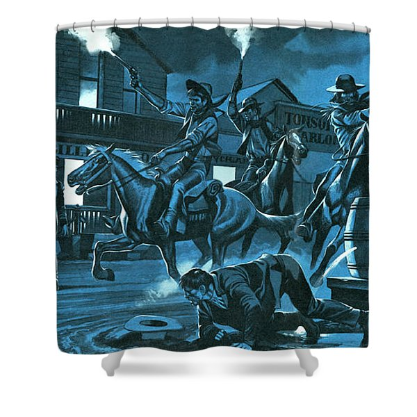 Dodge City At Night Shower Curtain