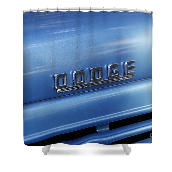 Dodge Hood Emblem Shower Curtain