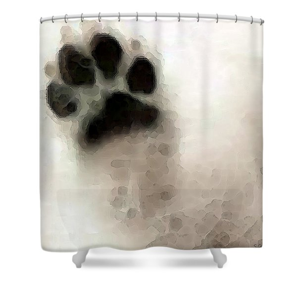 Dog Art - I Paw You Shower Curtain