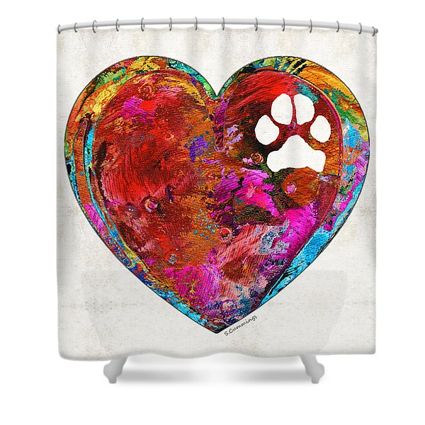 Dog Art - Puppy Love 2 - Sharon Cummings Shower Curtain