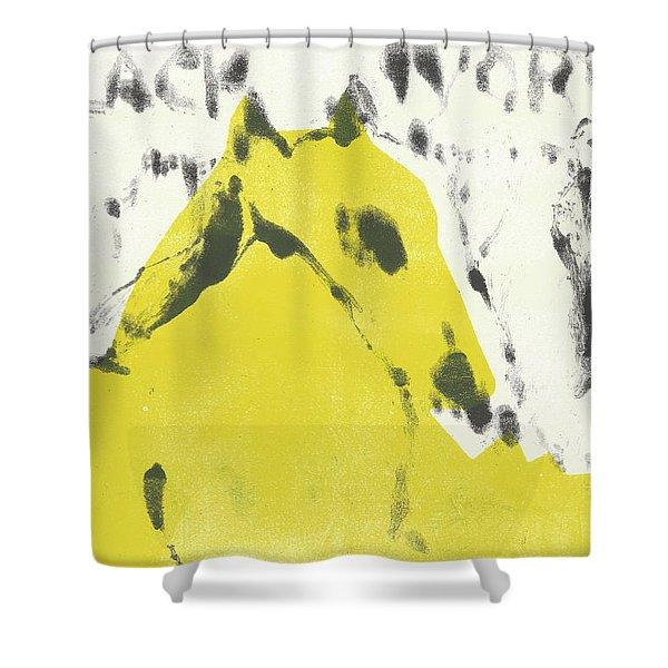 Dog At The Beach - Black Ivory 2 Shower Curtain