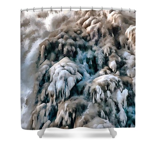Dog Falls Shower Curtain
