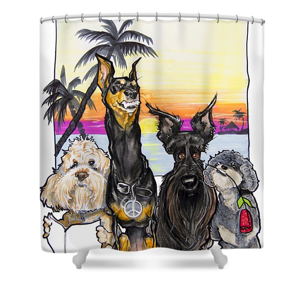 Dog Island Getaway Shower Curtain