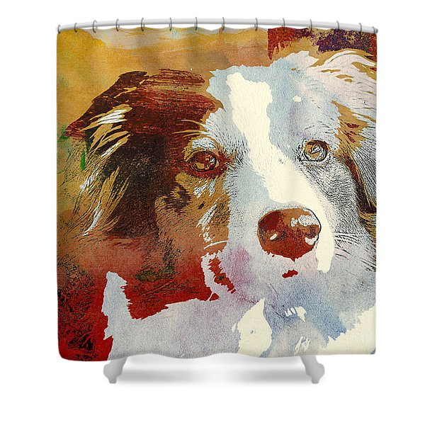 Dog Portrait Shower Curtain