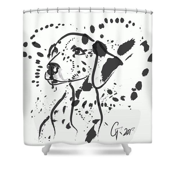 Dog Spot Shower Curtain