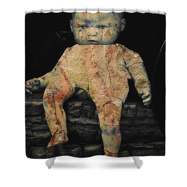 Doll R Shower Curtain