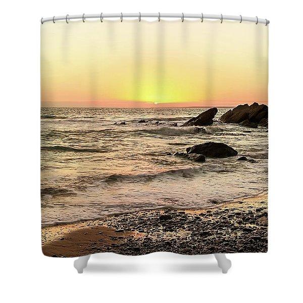 Dollar Cove Beach  Shower Curtain