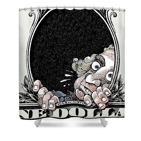Dollar Fear Shower Curtain
