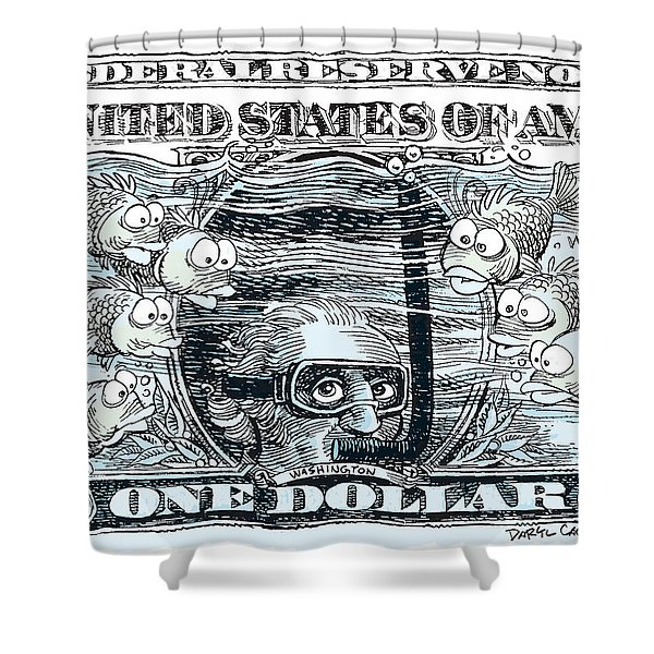 Dollar Submerged Shower Curtain