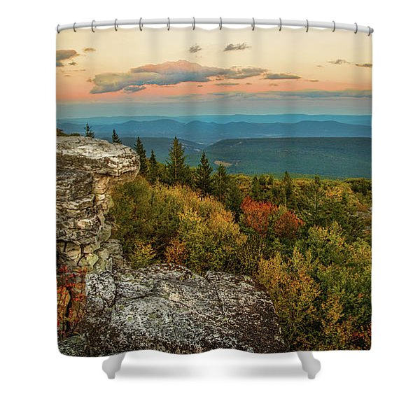 Dolly Sods Autumn Sundown Shower Curtain