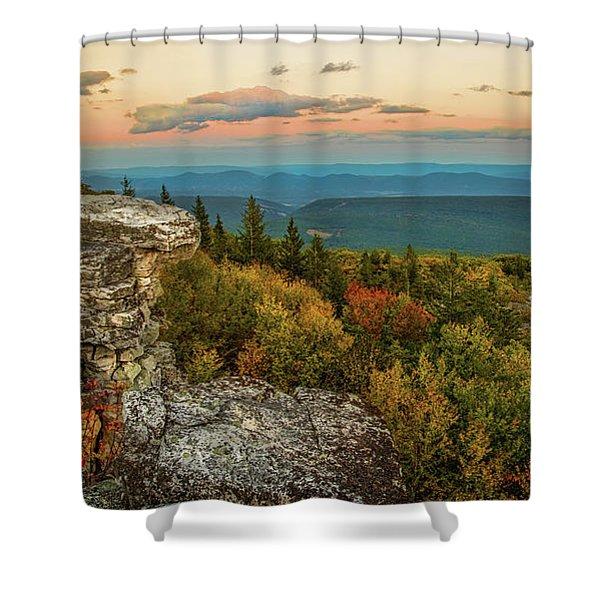 Dolly Sods Autumn Sundown Shower Curtain