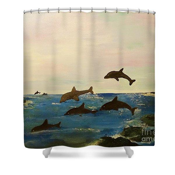 Dolphin Bay Shower Curtain