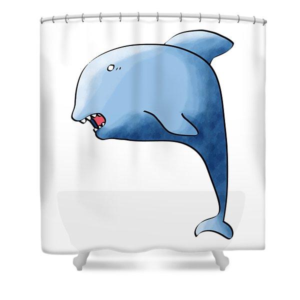 Dolphin Blue Shower Curtain