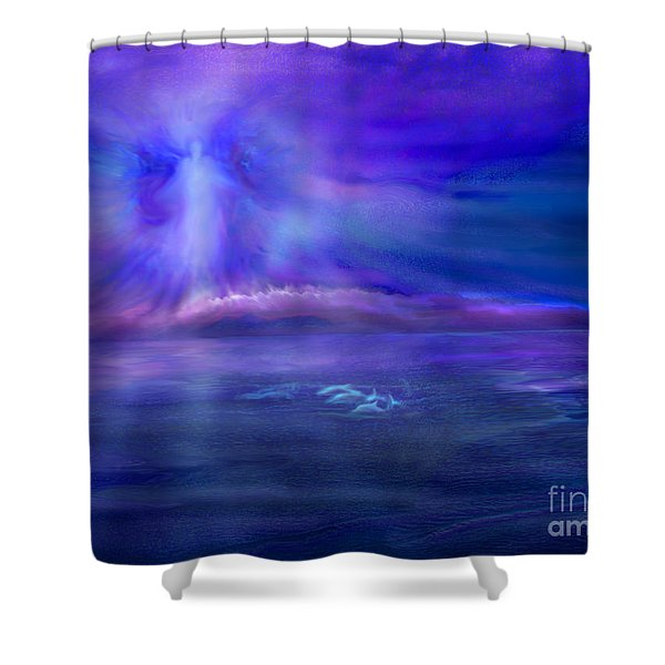 Dolphin Dreaming Shower Curtain