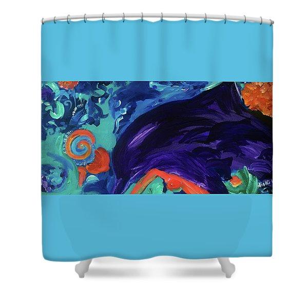 Dolphin Dreams Shower Curtain