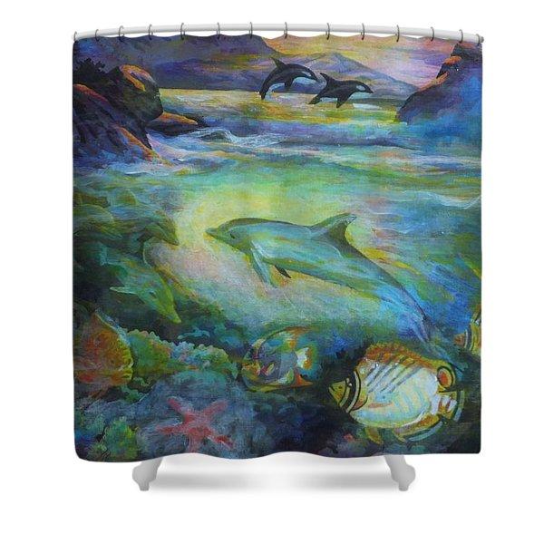 Dolphin Fantasy Shower Curtain