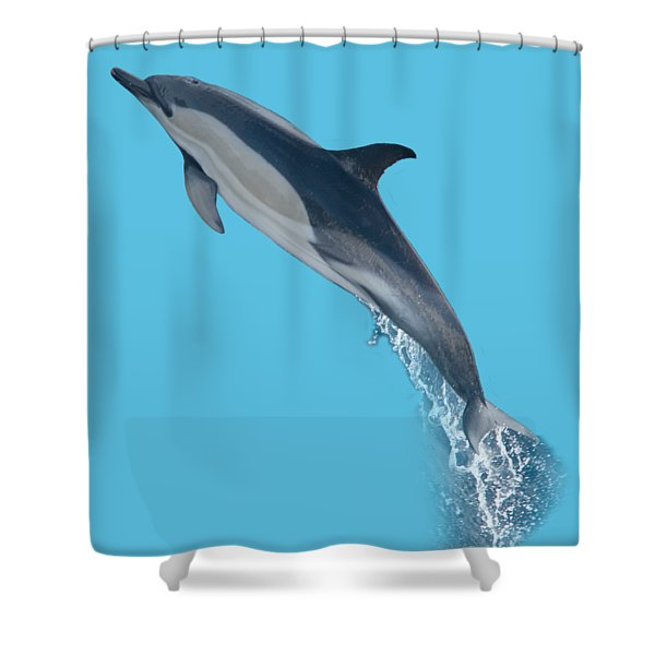 Dolphin Leaping T-shirt Shower Curtain
