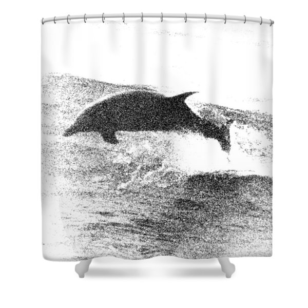 Dolphin Wave Leap Shower Curtain