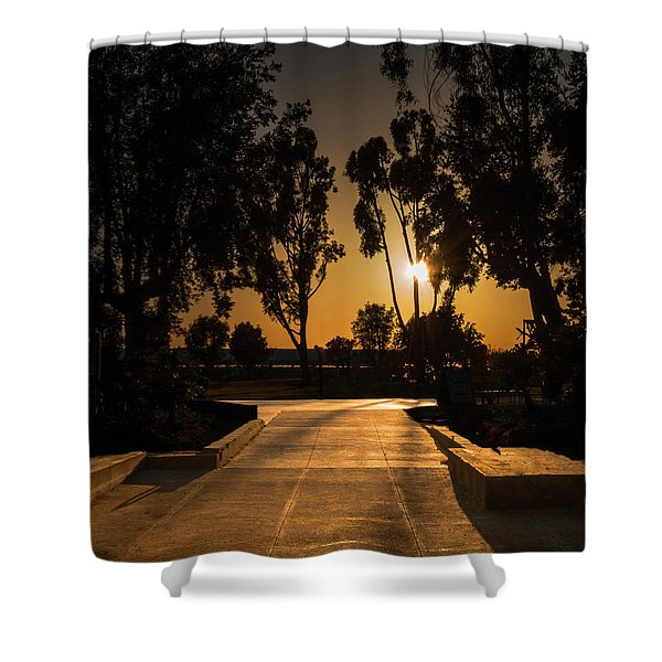 Dominguez Hills Sunset Shower Curtain
