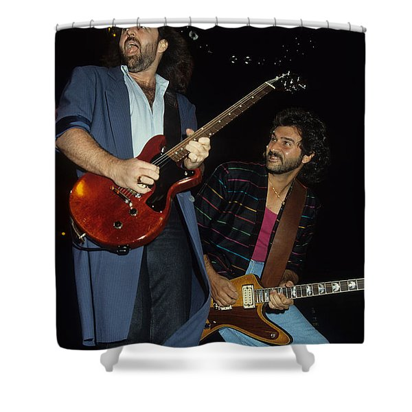 Don Barnes And Jeff Carlisi Of 38 Special Shower Curtain