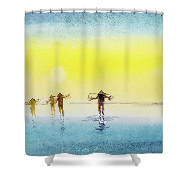 Done For The Day. Shower Curtain