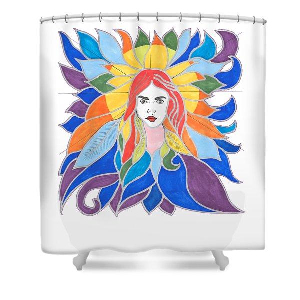 Donna Soul Portrait Shower Curtain