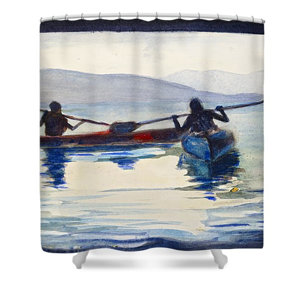 Donner Lake Kayaks Shower Curtain