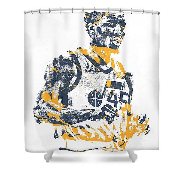 Donovan Mitchell Utah Jazz Pixel Art 11 Shower Curtain