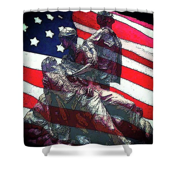 Don't Forget Our Nurses Shower Curtain
