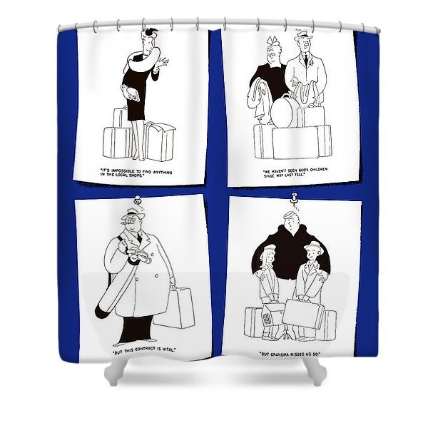 Don't Travel Unless It Helps Win The War Shower Curtain