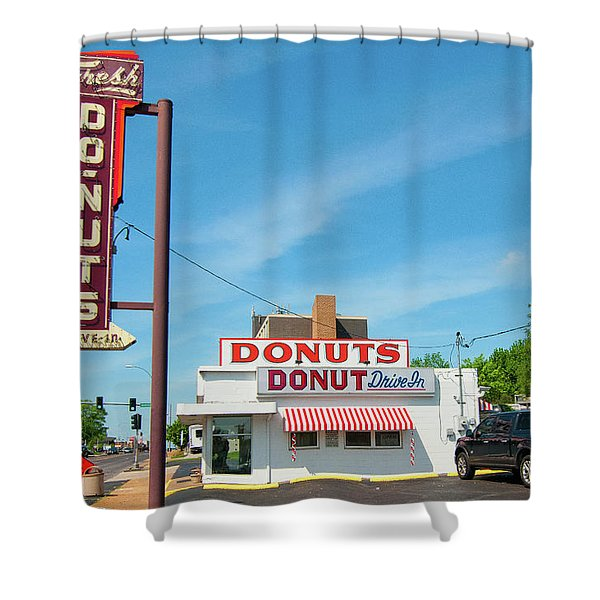 Donut Drive In Shower Curtain