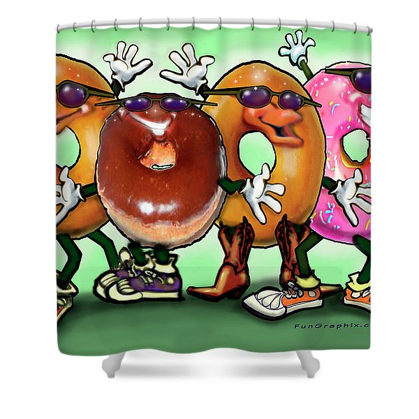 Donut Party Shower Curtain