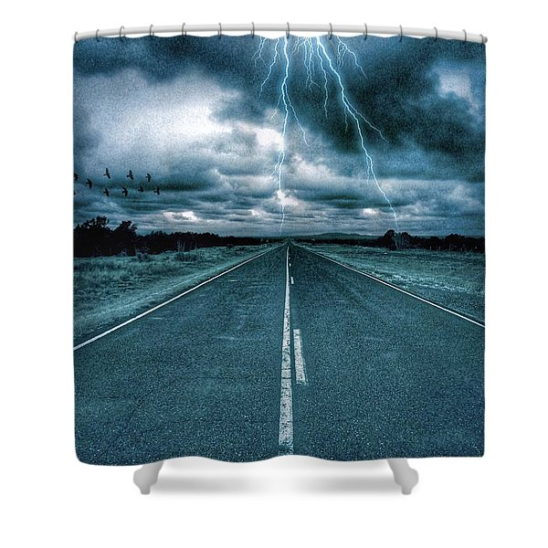 Doomsday Road Shower Curtain