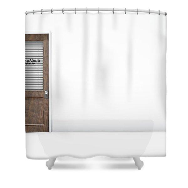 Door In Doctors Room Shower Curtain