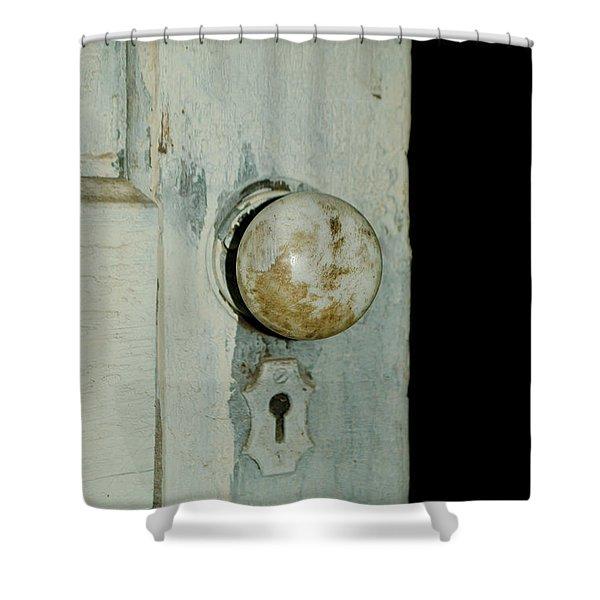 Door Is Open Shower Curtain