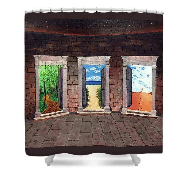 Door Number Three Shower Curtain