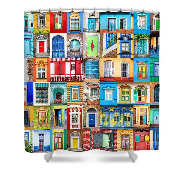 Doors And Windows Of The World Shower Curtain