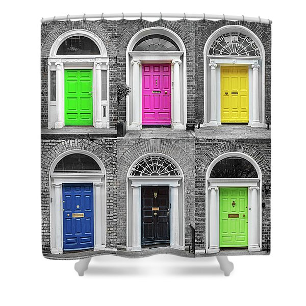 Doors Of Dublin Shower Curtain