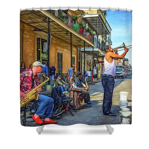 Doreen's Jazz New Orleans - Paint Shower Curtain
