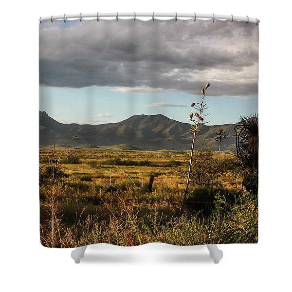 Dos Cabezas Grasslands At Dusk Shower Curtain