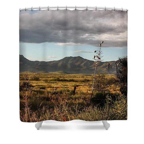 Dos Cabezas Grasslands At Dusk Shower Curtain