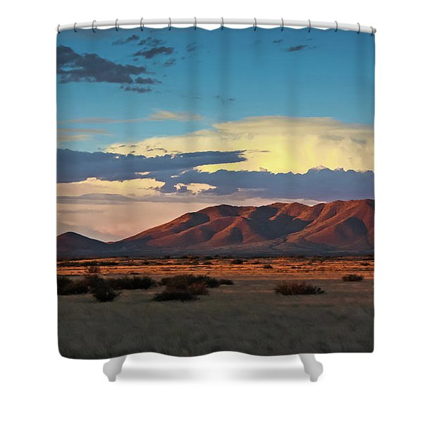 Dos Cabezos Sunset Serenity Shower Curtain
