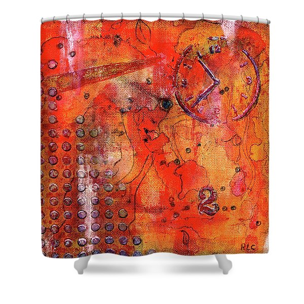 Dot Of Time Shower Curtain